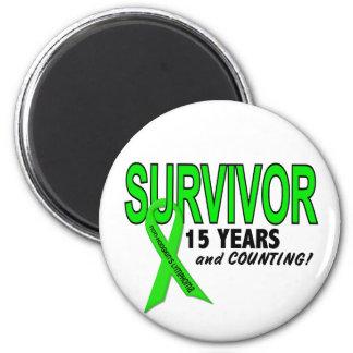 Non-Hodgkins Lymphoma 15 Year Survivor Fridge Magnet