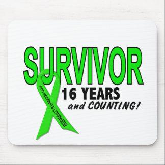 Non-Hodgkins Lymphoma 16 Year Survivor Mouse Mat