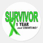 Non-Hodgkins Lymphoma 1 Year Survivor Sticker