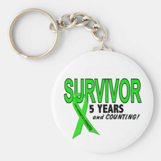 Non-Hodgkins Lymphoma 5 Year Survivor Key Ring