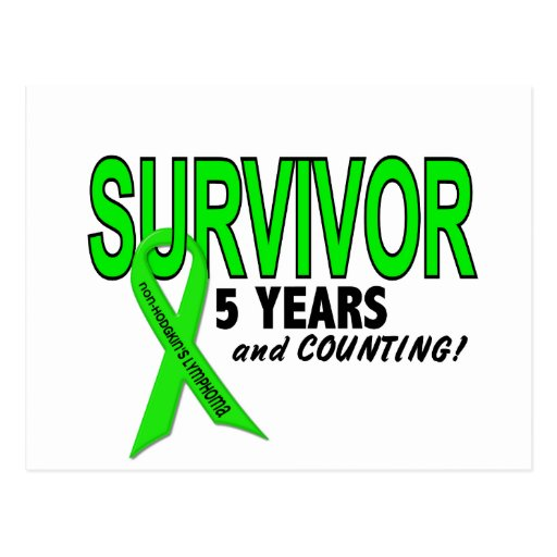 Non-Hodgkins Lymphoma 5 Year Survivor Post Card