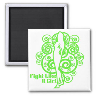 Non-Hodgkin's Lymphoma Abstract Fight Like a Girl Refrigerator Magnets