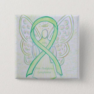 Non-Hodgkins Lymphoma Angel Lime Green Ribbon Pins