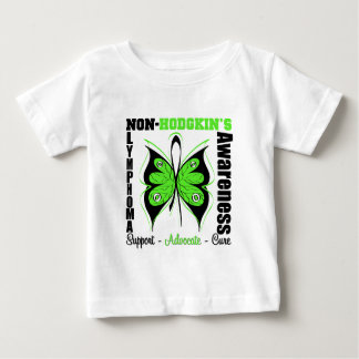 Non-Hodgkins Lymphoma  Awareness Butterfly Baby T-Shirt