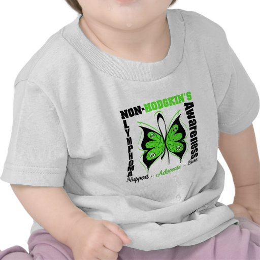 Non-Hodgkins Lymphoma  Awareness Butterfly T Shirts