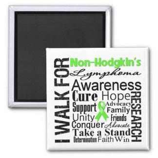 Non-Hodgkins Lymphoma Awareness Walk Square Magnet
