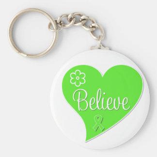 Non Hodgkins Lymphoma Believe Heart Key Chains