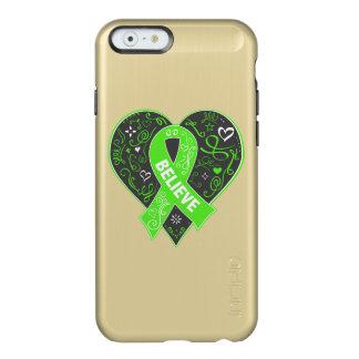 Non-Hodgkins Lymphoma Believe Ribbon Heart Incipio Feather® Shine iPhone 6 Case
