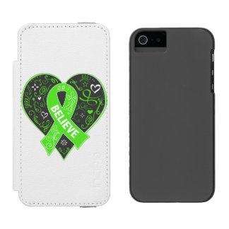 Non-Hodgkins Lymphoma Believe Ribbon Heart Incipio Watson™ iPhone 5 Wallet Case