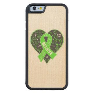 Non-Hodgkins Lymphoma Believe Ribbon Heart Maple iPhone 6 Bumper