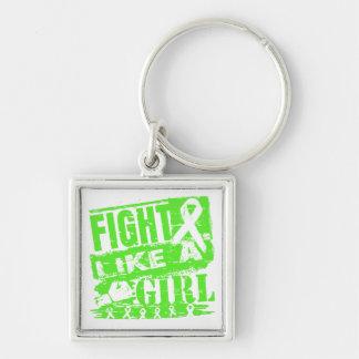 Non-Hodgkins Lymphoma BurnOut Fight Like a Girl Key Chain