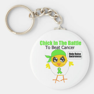 Non Hodgkins Lymphoma Chick In the Battle Key Chain