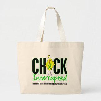 Non-Hodgkins Lymphoma Chick Interrupted Jumbo Tote Bag