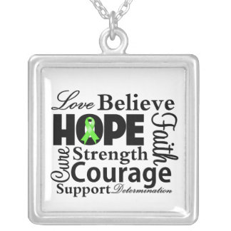 Non-Hodgkin's Lymphoma Collage of Hope Custom Necklace