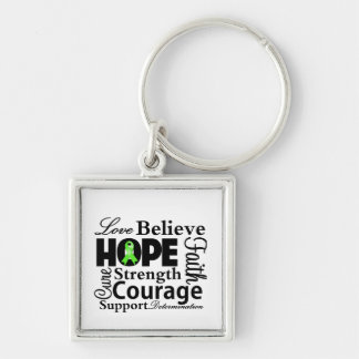 Non-Hodgkins Lymphoma Collage of Hope Silver-Colored Square Key Ring