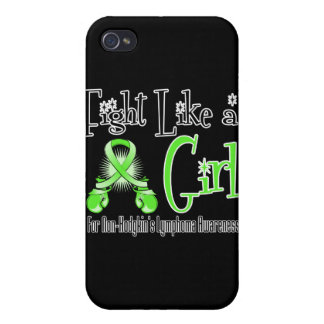 Non-Hodgkins Lymphoma Cool Retro Fight Like a Girl iPhone 4 Cases