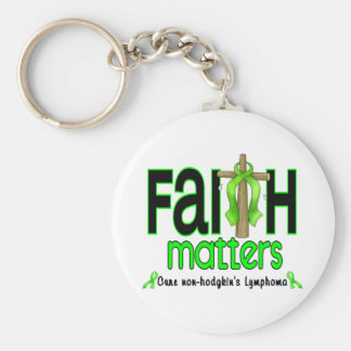 Non-Hodgkins Lymphoma Faith Matters Cross 1 Key Ring