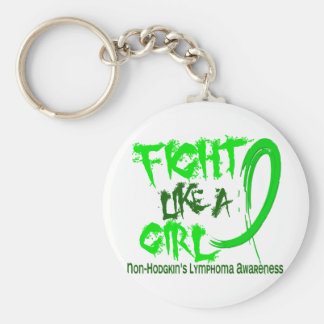 Non-Hodgkins Lymphoma Fight Like A Girl 5 3 Key Chains