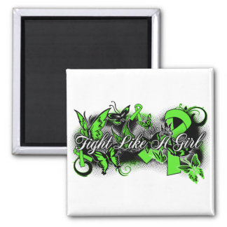 Non-Hodgkin's Lymphoma Fight Like A Girl Butterfly Refrigerator Magnet