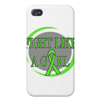 Non-Hodgkins Lymphoma Fight Like A Girl Circular iPhone 4/4S Case