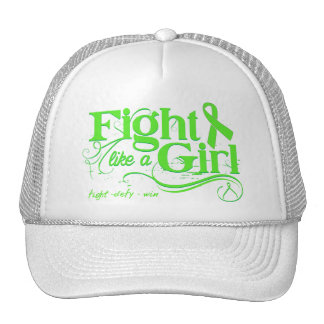 Non-Hodgkin's Lymphoma Fight Like A Girl Elegant Trucker Hats