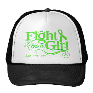 Non-Hodgkin's Lymphoma Fight Like A Girl Elegant Mesh Hat