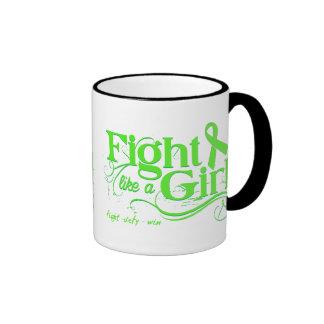 Non-Hodgkin's Lymphoma Fight Like A Girl Elegant Mugs