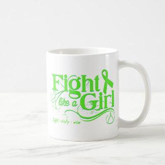 Non-Hodgkin's Lymphoma Fight Like A Girl Elegant Coffee Mug