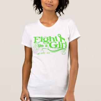Non-Hodgkin's Lymphoma Fight Like A Girl Elegant T-shirts
