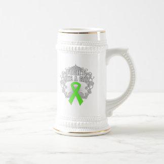 Non-Hodgkins Lymphoma Fight Like A Girl Fleurish Beer Steins