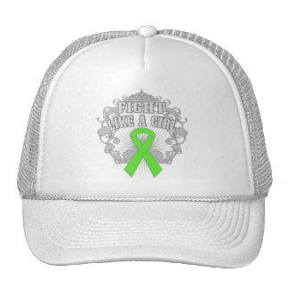 Non-Hodgkins Lymphoma Fight Like A Girl Fleurish Trucker Hats