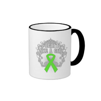 Non-Hodgkins Lymphoma Fight Like A Girl Fleurish Coffee Mugs