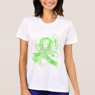 Non-Hodgkins Lymphoma Fight Like a Girl Flourish T Shirt
