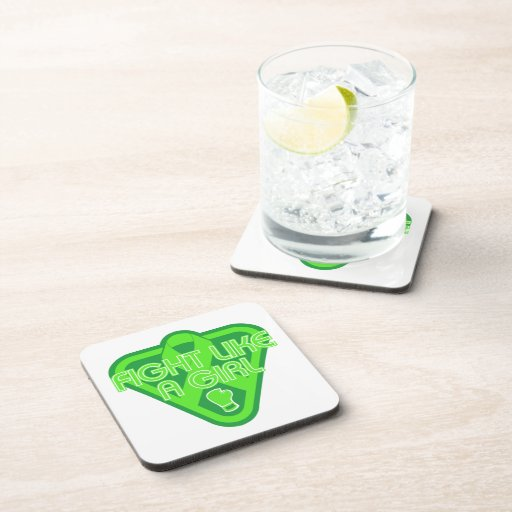 Non-Hodgkins Lymphoma Fight Like A Girl Glove Drink Coasters