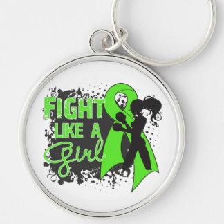 Non-Hodgkin's Lymphoma Fight Like A Girl Grunge Keychains