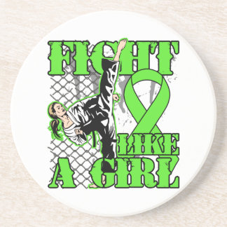 Non-Hodgkin's Lymphoma Fight Like A Girl Kick Beverage Coaster