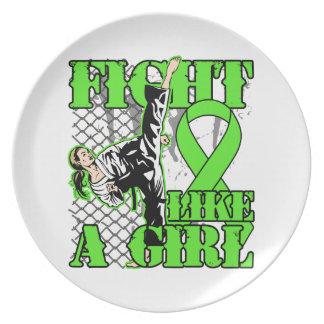 Non-Hodgkin's Lymphoma Fight Like A Girl Kick Party Plates
