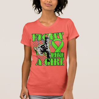 Non-Hodgkin's Lymphoma Fight Like A Girl Kick Tee Shirts