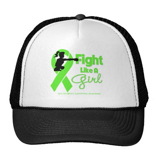 Non-Hodgkins Lymphoma Fight Like A Girl  Knock Out Hats