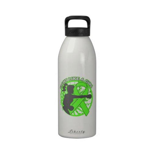 Non-Hodgkins Lymphoma Fight Like A Girl Pose Reusable Water Bottles