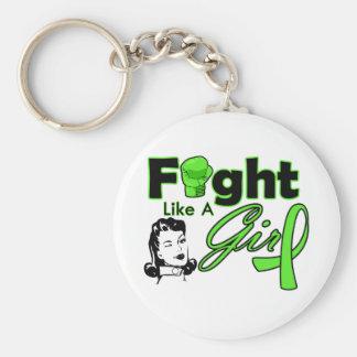 Non-Hodgkin's Lymphoma Fight Like A Girl - Retro G Key Chain