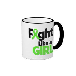 Non-Hodgkins Lymphoma Fight Like a Girl Ringer Mug