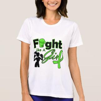Non-Hodgkins Lymphoma Fight Like A Girl Silhouette Shirt