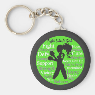Non-Hodgkin's Lymphoma Fight Like A Girl Warrior Basic Round Button Key Ring