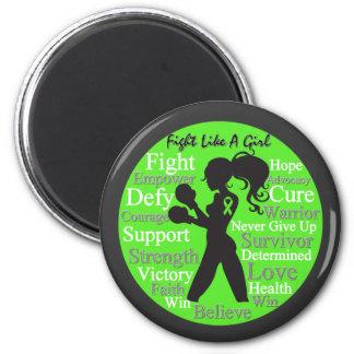 Non-Hodgkin's Lymphoma Fight Like A Girl Warrior Magnet