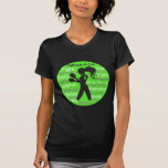 Non-Hodgkin's Lymphoma Fight Like A Girl Warrior T-shirt