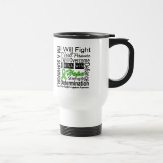 Non-Hodgkins Lymphoma Fight Persevere Overcome Win Stainless Steel Travel Mug