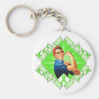 Non-Hodgkin's Lymphoma Fight Rosie The Riveter Keychains