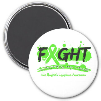 Non-Hodgkin's Lymphoma FIGHT Supporting My Cause 7.5 Cm Round Magnet