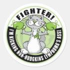 Non-Hodgkins Lymphoma Fighter Classic Round Sticker